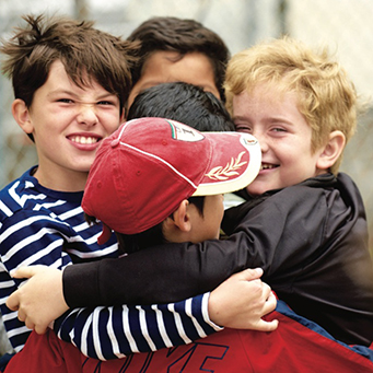 CWC boys hugging